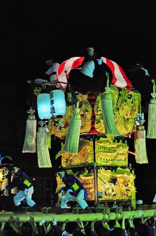 平成22年土居秋祭り ユーホール南駐車場 北野太鼓台