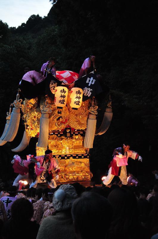 新居浜太鼓祭り 内宮神社かき上げ 中筋太鼓台