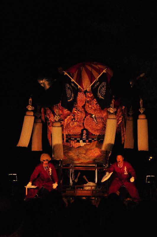 新居浜太鼓祭り 内宮神社かき上げ  喜光地太鼓台