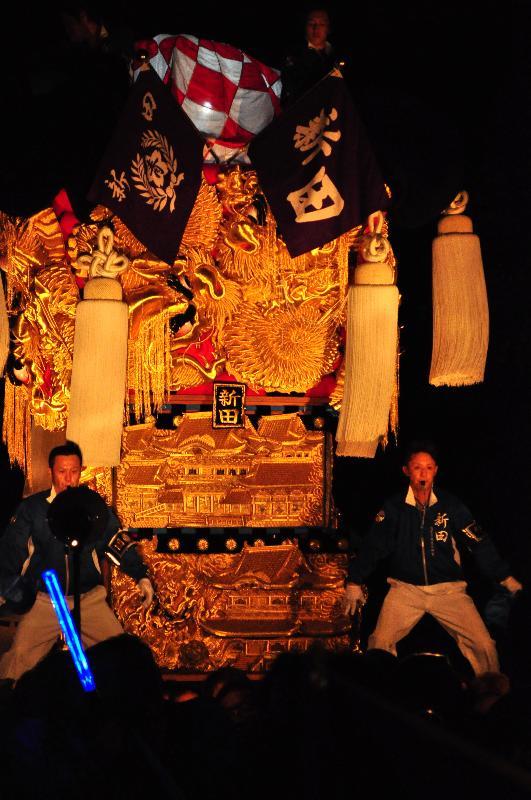 新居浜太鼓祭り 内宮神社かき上げ  内宮神社