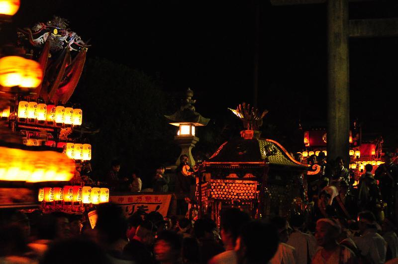 西条祭り 伊曽乃神社祭礼 川入 御神輿渡御