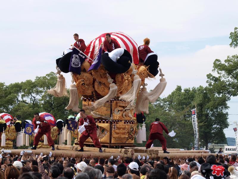 新居浜太鼓祭り 上部 山根グラウンド 喜光地太鼓台