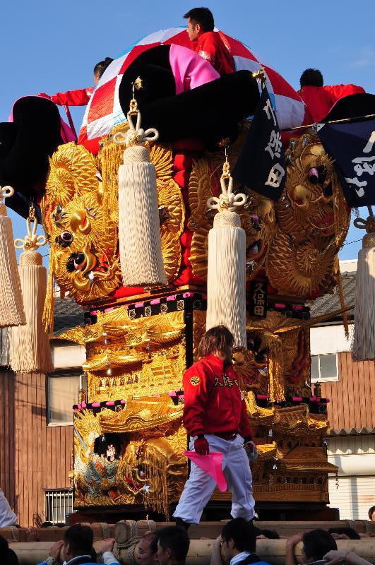 新居浜太鼓祭り 川西地区 工場前入場 新須賀太鼓台