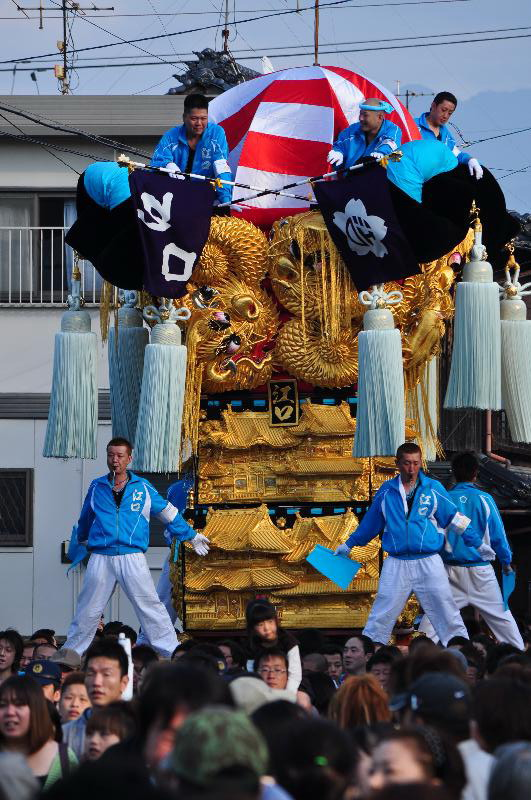 新居浜太鼓祭り 工場前かきくらべ 江口太鼓台
