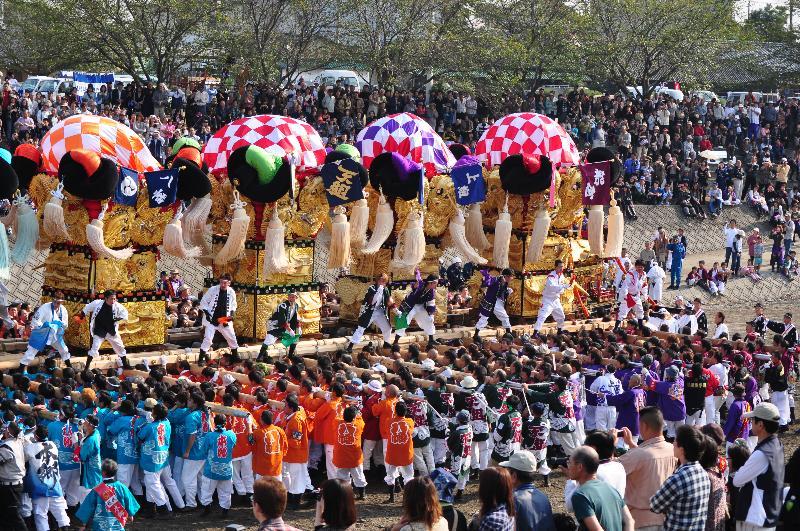 西条祭り 渦井河原かきくらべ 寄せ太鼓