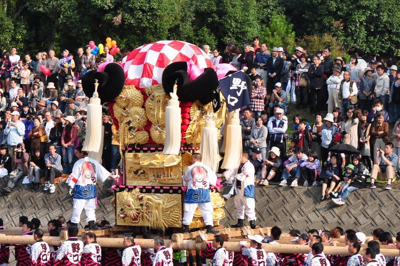 西条祭り 渦井河原かきくらべ 野口太鼓台