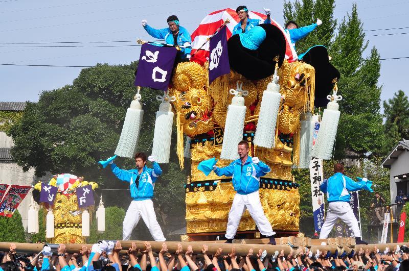 新居浜太鼓祭り 大江浜かきくらべ 江口太鼓台