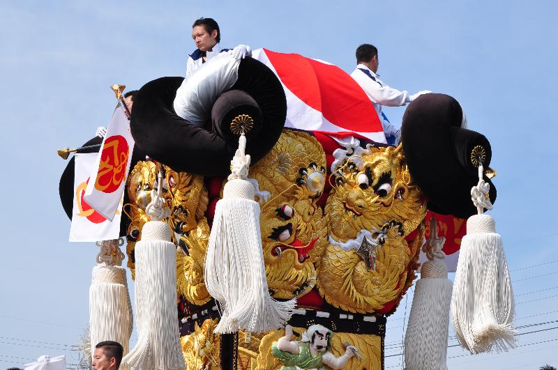 新居浜太鼓祭り 大江浜かきくらべ 口屋太鼓台