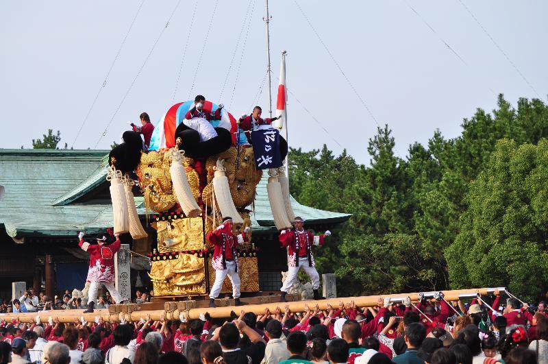 新居浜太鼓祭り 八旗神社かきくらべ 松乃木太鼓台