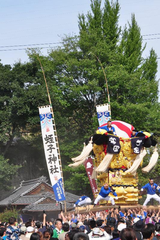 新居浜太鼓祭り 大江浜かきくらべ 新田太鼓台