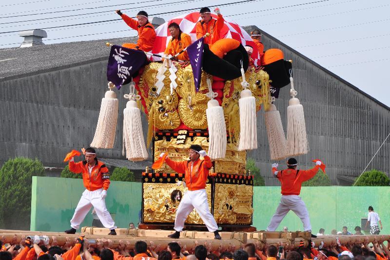 新居浜太鼓祭り 大江浜かきくらべ 新須賀太鼓台