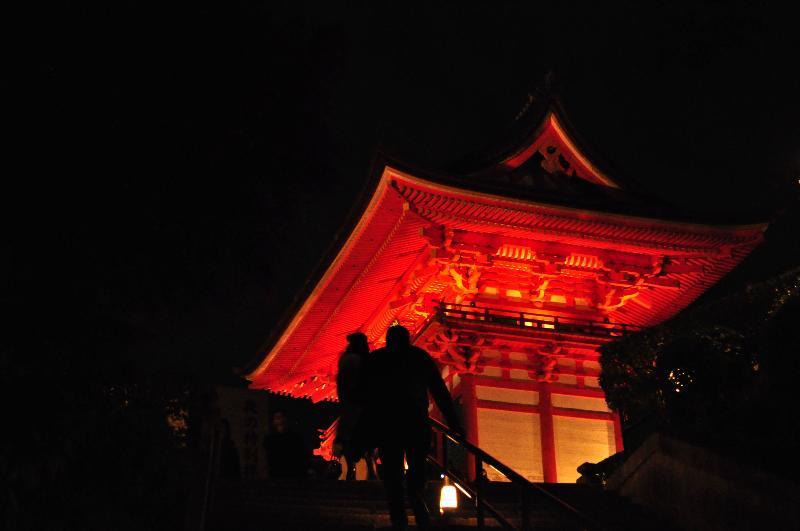 京都府京都市東山区清水 清水寺 ライトアップ