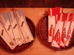 0902和紙飾り付き箸入れ