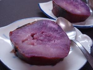 紫芋の焼き芋