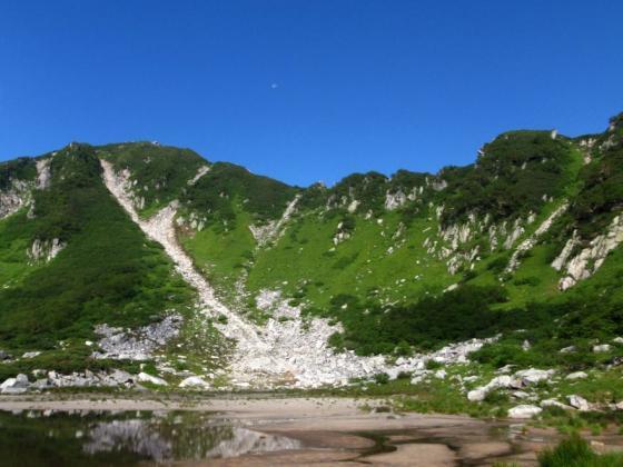13濃ヶ池と白い月
