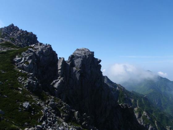 18天狗岩と三ノ沢岳