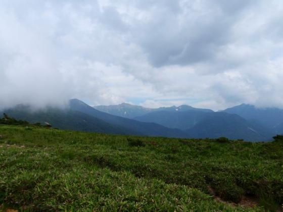 02水晶岳が見えた