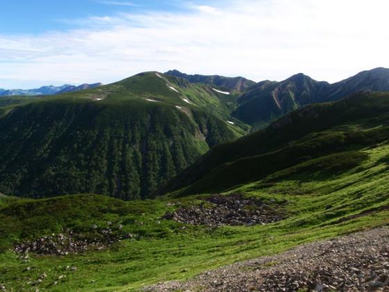 33祖父岳と周辺の山