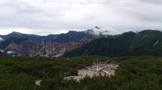 40槍ヶ岳と大天井岳