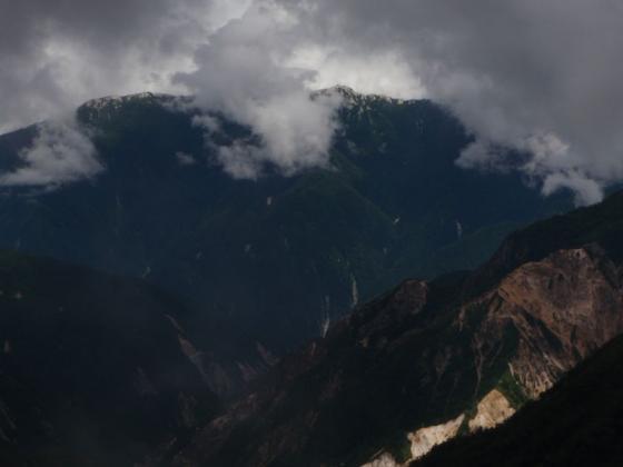 54双六岳にて燕岳