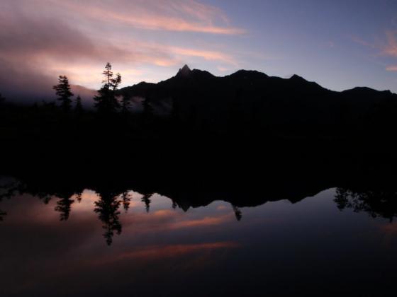 61鏡池の夜明けⅠ