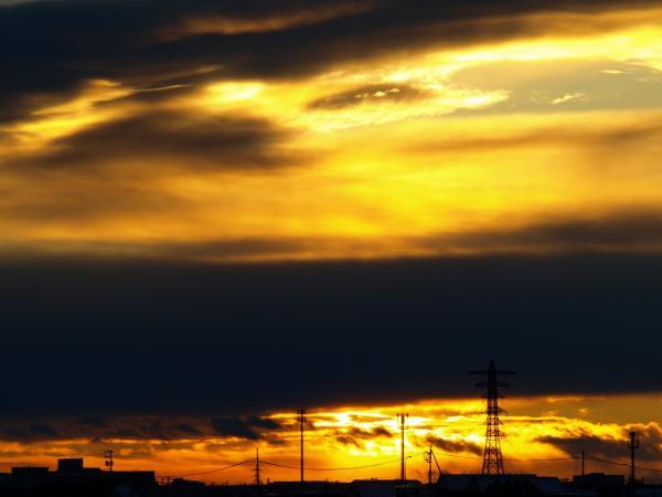 2008年最後の夕陽~