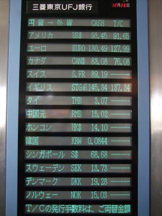成田でのレート