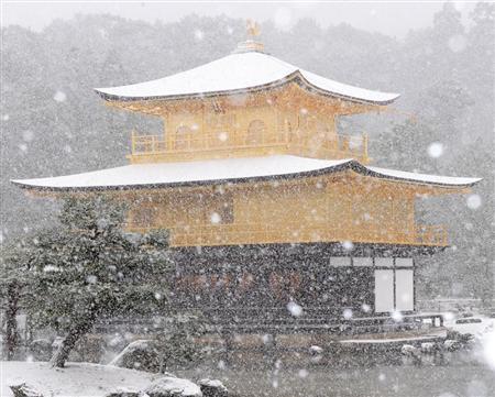 雪化粧の金閣寺2010年12月31日