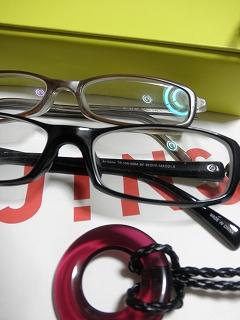 新旧のJINSメガネ強度近視のレンズでも\5,990-