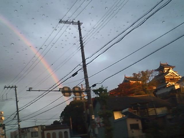 福知山城で虹をみた