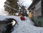 母屋の除雪