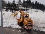 市道の春先除雪