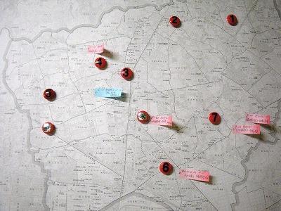 市内被害状況を示すマップ