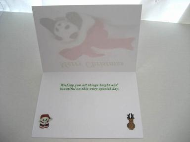 プレゼントパンダのクリスマスカード