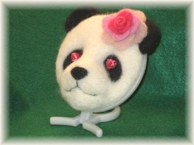 恋するパンダのミニ置き鏡