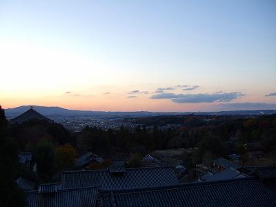 二月堂からの夕焼け