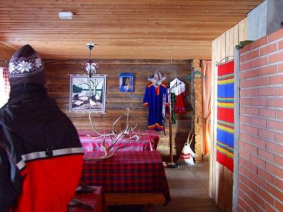 トナカイ牧場の小屋内部