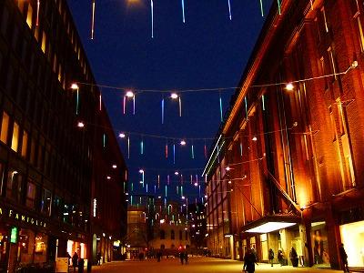 夜のヘルシンキ市内