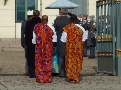アフリカの要人?
