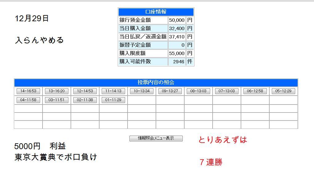 大井29日