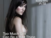 ポルノスター Sasha Gray(サシャ・グレイ)がPETAのヌード・ポスターに登場