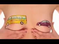 ロシアの保険会社のおっぱいを使った広告動画がセクシーと話題