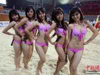 広州アジア競技大会のセクシーなビキニ美女応援団の画像