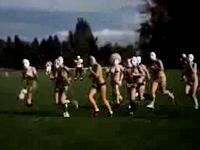 覆面をしたトップレス女性の大群がフットボールフィールドに乱入してる動画?