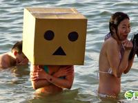 寒中水泳大会のひとコマ?
