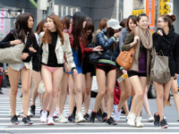 台湾美女がノーパンツデーに美腿を出して台北を闊歩したらしい