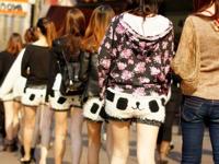 中国の繁華街にパンダパンツの美女軍団が現れたらしい