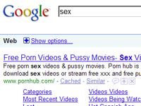 2009年 アメリカの子供が検索したキーワードランキング  4位「セックス」 5位「ポルノ」