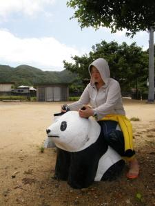 パンダに乗る