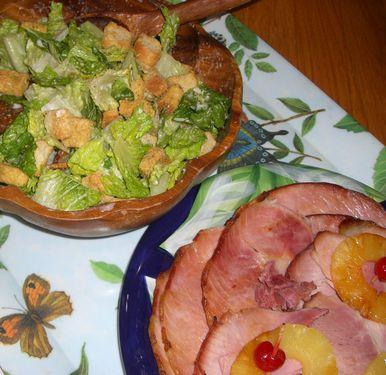 CIMG1455 サラダとハム
